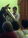 Taneli - has tuba, does weird stuff with it